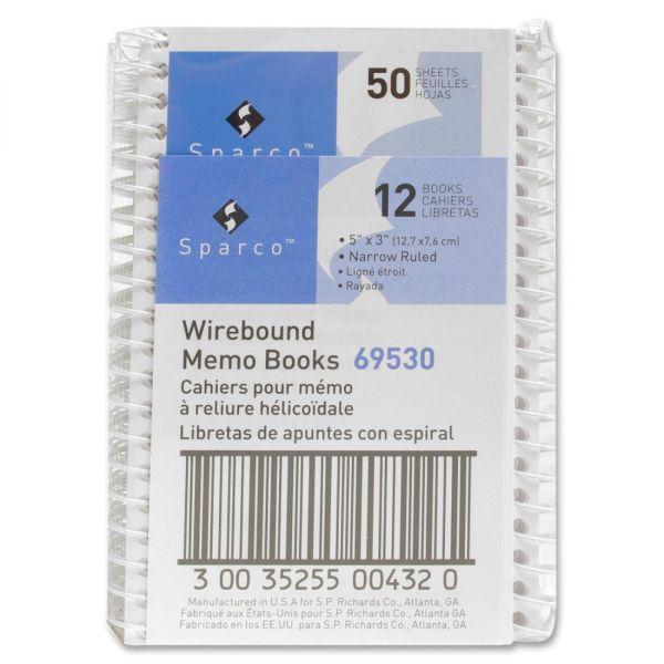 Sparco Wirebound Memo Books