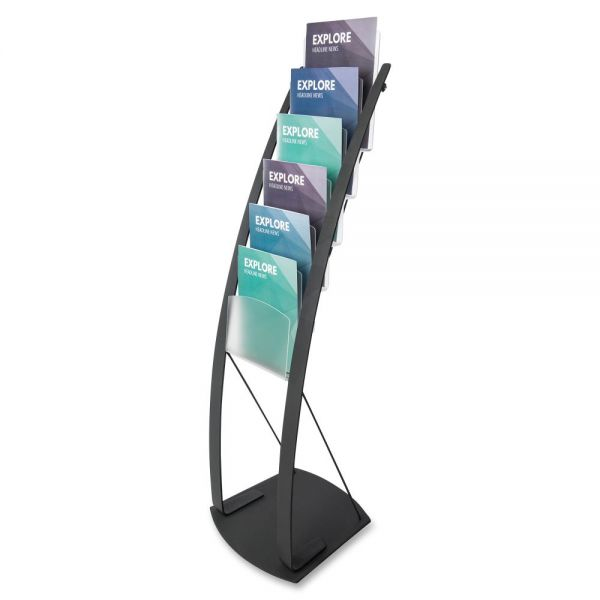deflecto Contemporary Literature Floor Stand