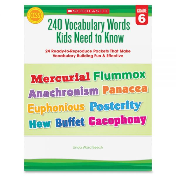 Scholastic Grade-6 240 Vocabulary Words Book Education Printed Book