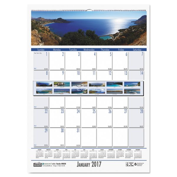 House of Doolittle Coastlines Monthly Wall Calendar
