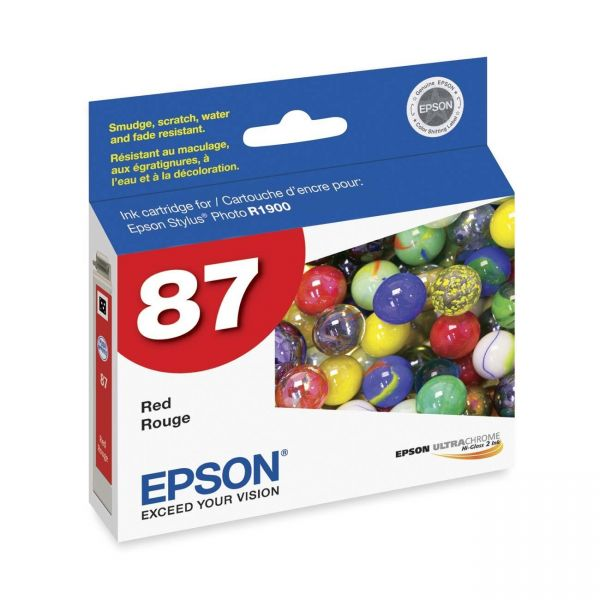 Epson 87 Red Ink Cartridge