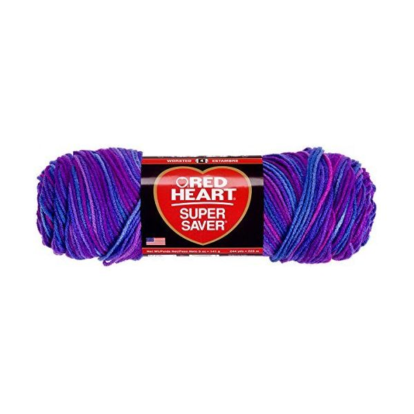 Red Heart Super Saver Yarn - Grape Fizz