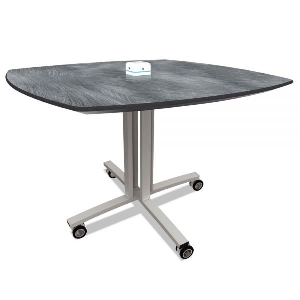 Nomad by Palmer Hamilton Reload Mobile Charging Table, 36 x 36 x 29, Pewter