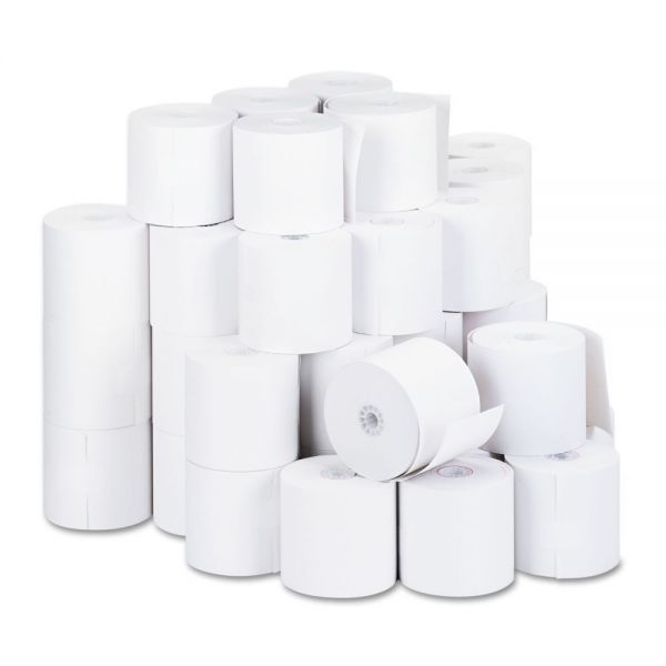 "Universal 1-Ply Cash Register/Point of Sale Roll, 16 lb, 1/2"" Core, 2-3/4"" x 190 ft, 50/Ct"
