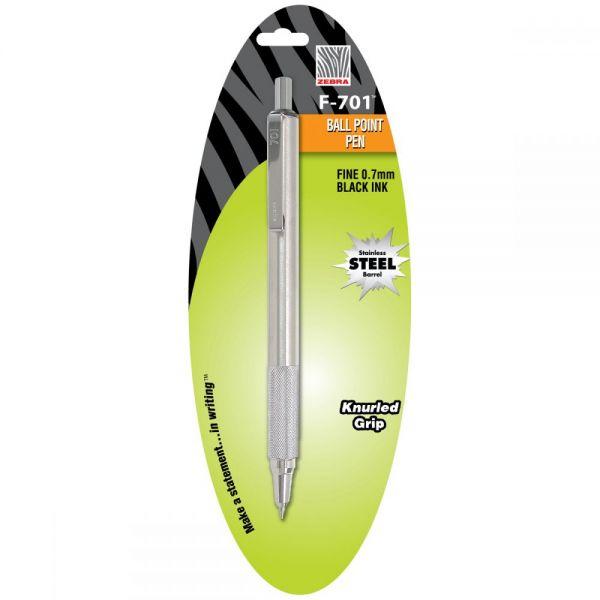 F-701 Stainless Steel Ballpoint Pen Fine 1/Pkg