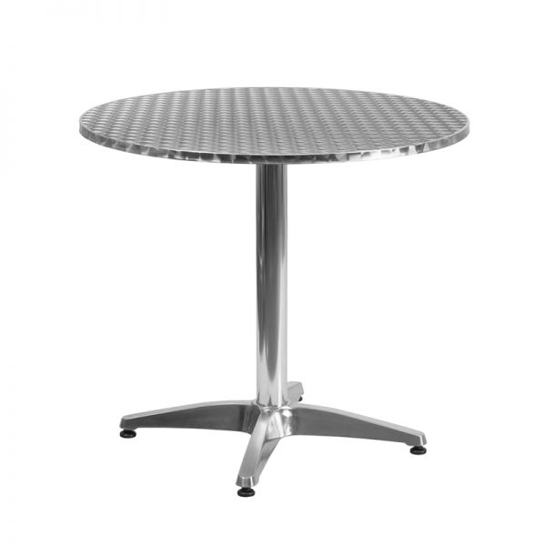 Flash Furniture 31.5'' Round Aluminum Indoor-Outdoor Table with Base