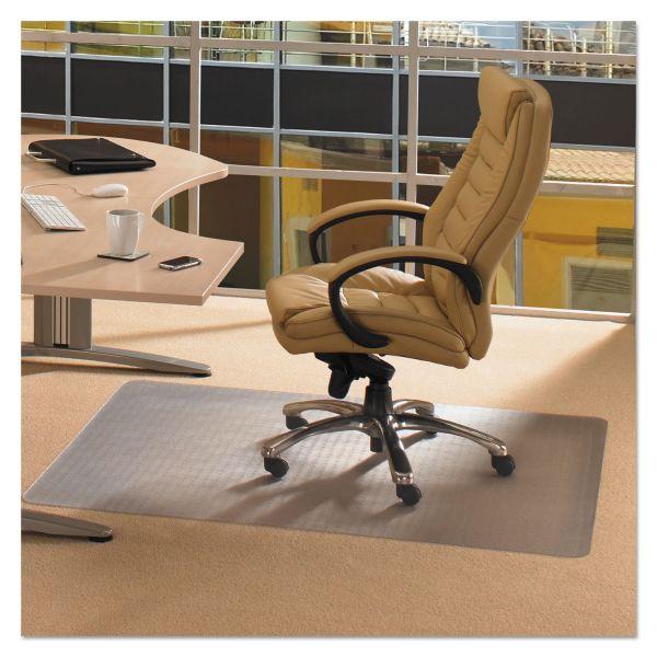 Floortex Cleartex Advantagemat Phthalate Free PVC Chair Mat for Low Pile Carpet, 53 x 45