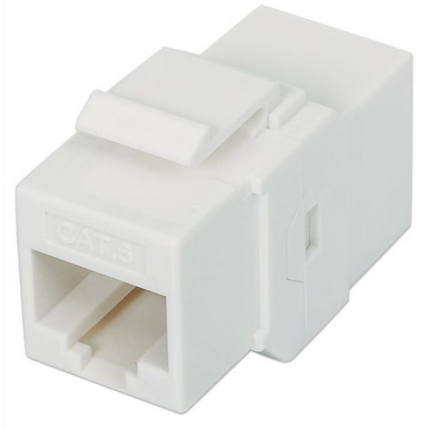Intellinet Cat6 UTP Inline Coupler, Keystone Type, White