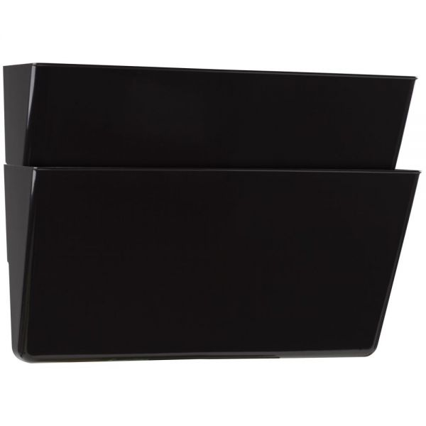 Storex Storex Recycled Wall Files, Letter, 2-Pack, Black (Case of 6)
