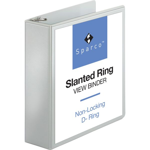 Sparco Slanted Ring View Binder