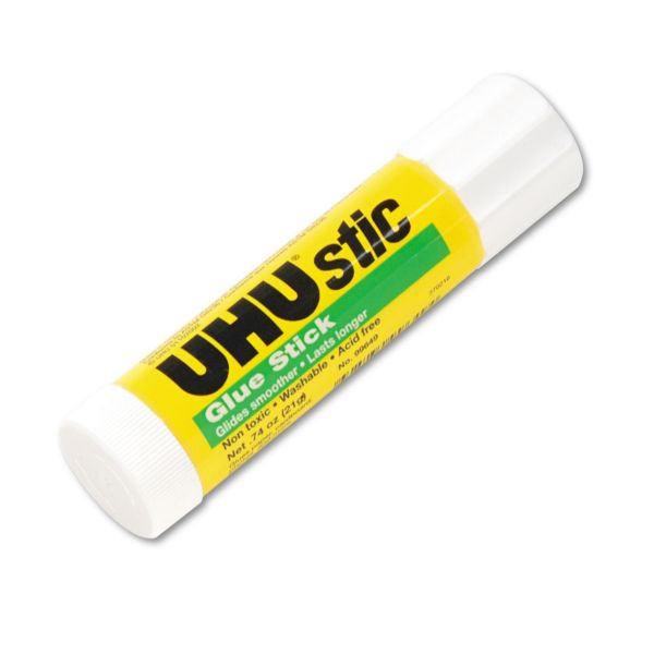 UHU UHU Stic Permanent Clear Application Glue Stick, .74 oz