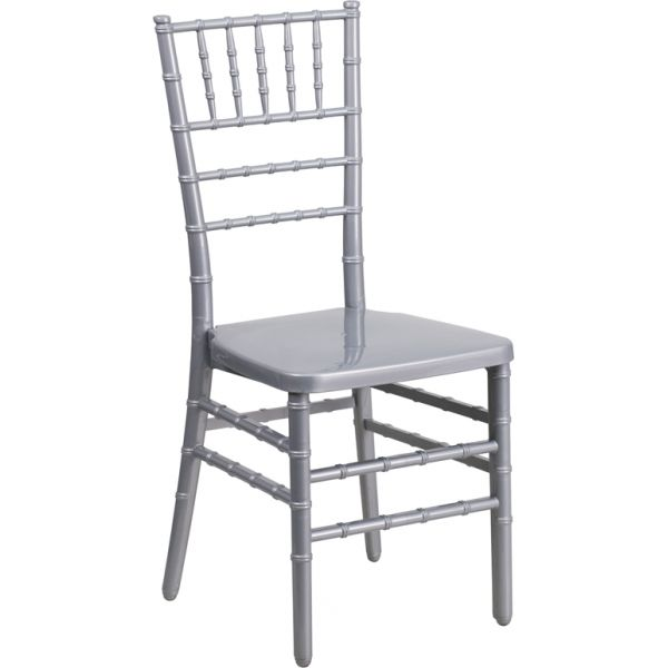 Flash Furniture Silver Resin Chiavari Chair