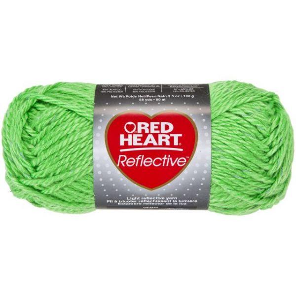Red Heart Reflective Yarn - Neon Green
