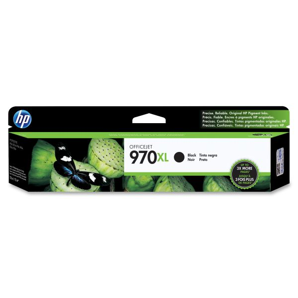 HP 970XL High Yield Black Ink Cartridge (CN625AM)