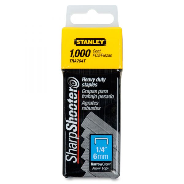 "Stanley Heavy-Duty Tacker 1/4"" Staples"