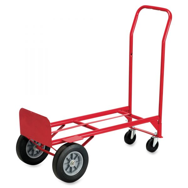 Safco Mayline Two-Way Convertible Hand Truck, 500-600lb Capacity, 18w x 51h, Red