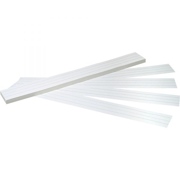 Pacon Sentence Strips, 24 x 3, White, 100/Pack