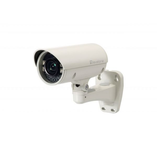 LevelOne H.264 2-Mega Pixel FCS-5042 10/100 Mbps PoE Zoom 10x IP Network Camera (Day/Night/Outdoor), TAA Compliant