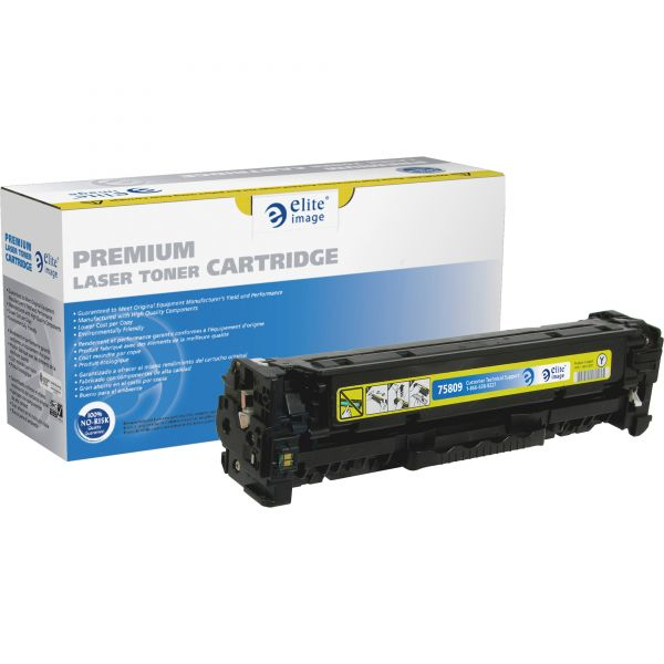 Elite Image Remanufactured HP 305A Yellow Toner Cartridge