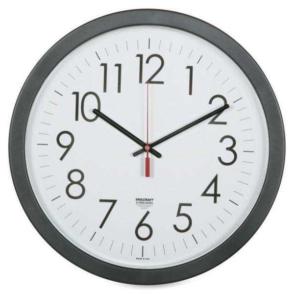 SKILCRAFT Round Workstation Wall Clock
