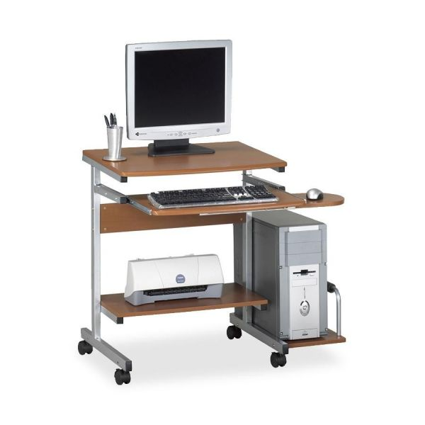Tiffany Industries Portrait Mobile PC Workstation, 36-1/2w x 28-1/2d x 30h, Med Cherry Laminate Top