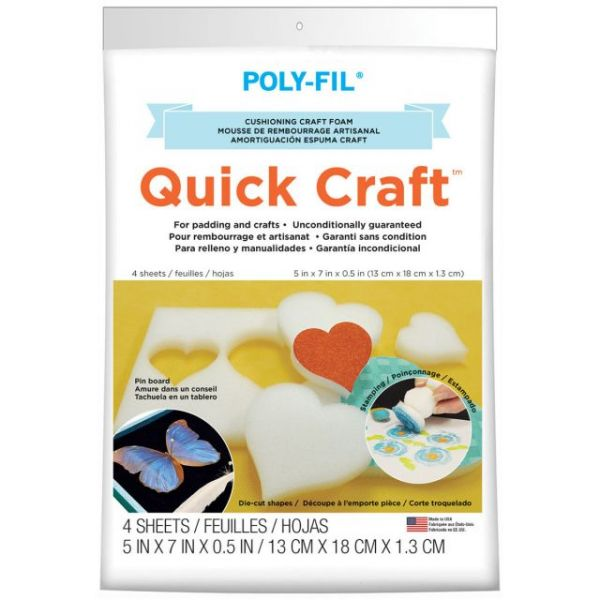 Quick Craft Foam 4/Pkg