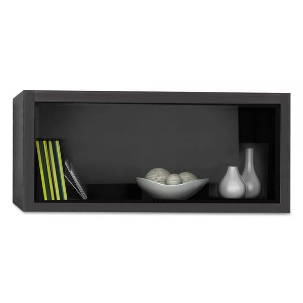 Mayline e5 Overhead Storage Cabinet, 30w x 15d x 15h, Raven