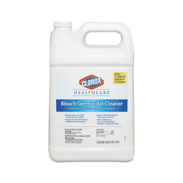 Clorox Healthcare Bleach Germicidal Cleaner, 128 oz Refill Bottle
