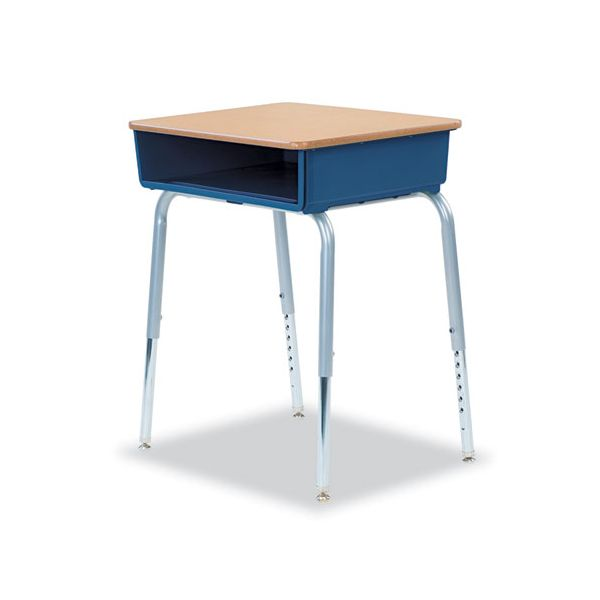 Virco 785 Open-Front Student Desk w/Colored Bookboxes, 24w x 18d, Navy, 2/Carton