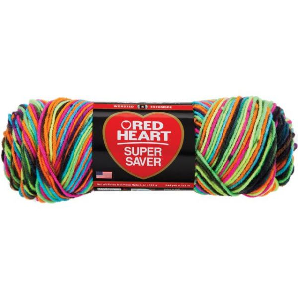 Red Heart Super Saver Yarn - Blacklight