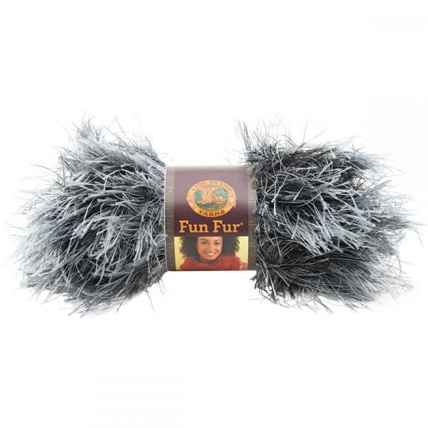 Lion Brand Fun Fur Yarn - Onyx-Exotics
