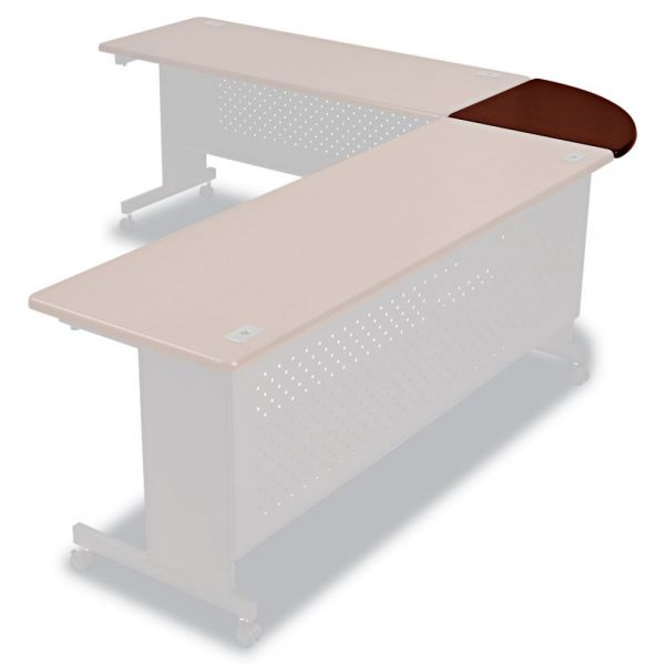 BALT Agility Series 90° Corner Connector, 24w x 24d x 1 1/2h, Mahogany