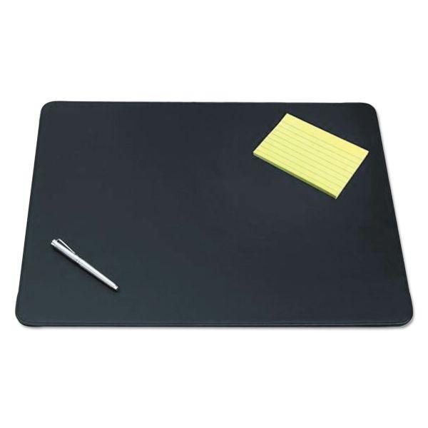 Artistic Westfield Designer Desk Pad with Decorative Stitching, 24 x 19, Black