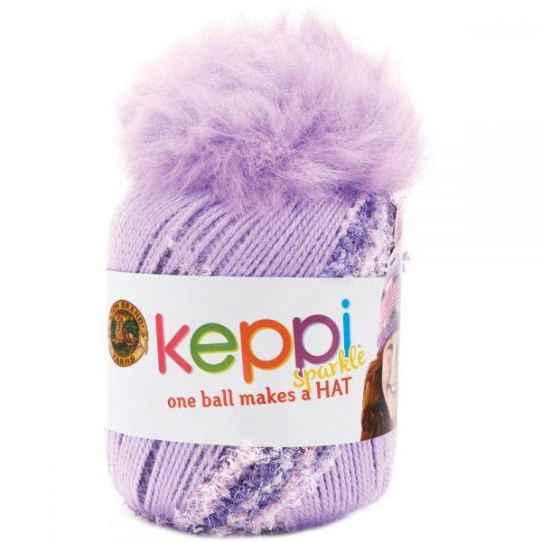 Lion Brand Keppi Yarn - Grape Jelly-Sparkle