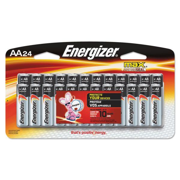 Energizer MAX Alkaline Batteries, AA, 24 Batteries/Pack