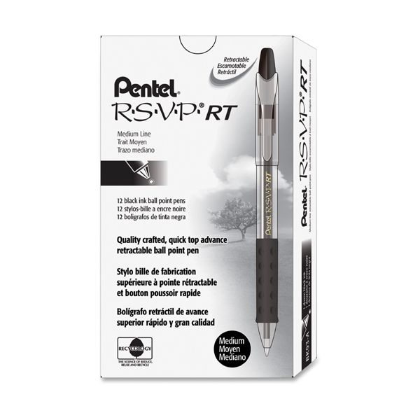 Pentel R.S.V.P. BK93 Retractable Ballpoint Pens