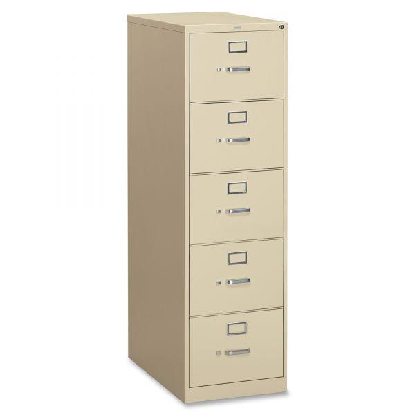 HON 310 Series 5 Drawer Locking Vertical File Cabinet