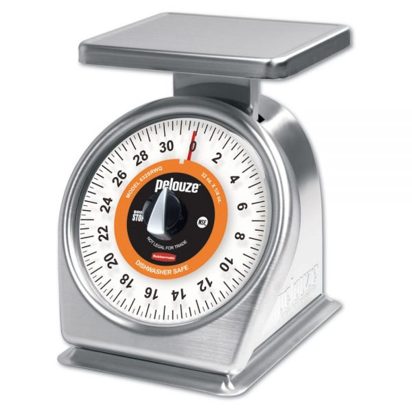 Rubbermaid Commercial Pelouze QuickStop Mechanical Portion-Control Scale, 32oz Cap, 7 x 5 Platform