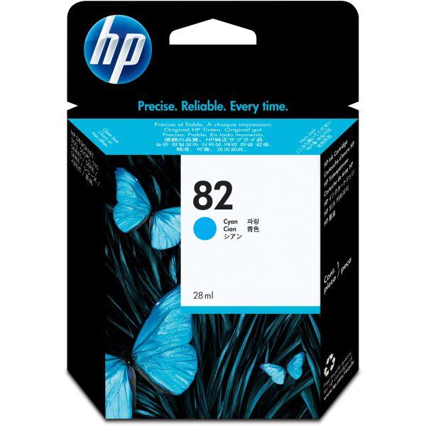 HP 82 Cyan Ink Cartridge (CH566A)