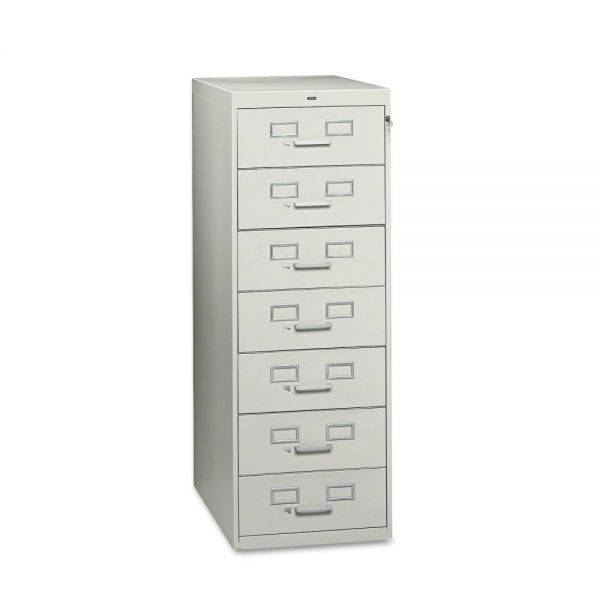 Tennsco Seven-Drawer Multimedia Cabinet For 5 x 8 Cards