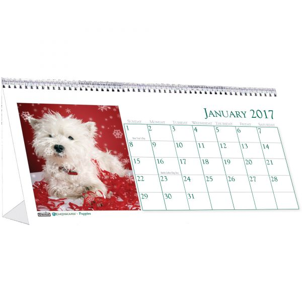 House of Doolittle Puppies Monthly Desktop Tent Calendar