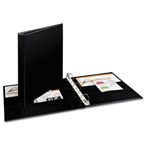 "Avery Durable 3-Ring Binder with Two Booster EZD Rings, 1"" Capacity, Black"