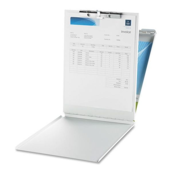 Business Source Top Opening Aluminum Storage Clipboard