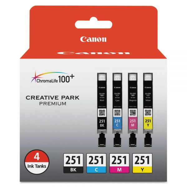 Canon CLI-251 Black/Color Ink Cartridges