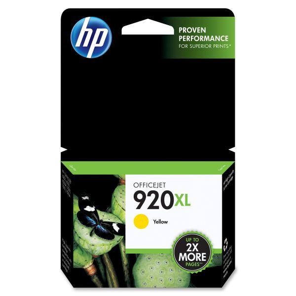 HP 920XL High Yield Yellow Ink Cartridge (CD974AN)