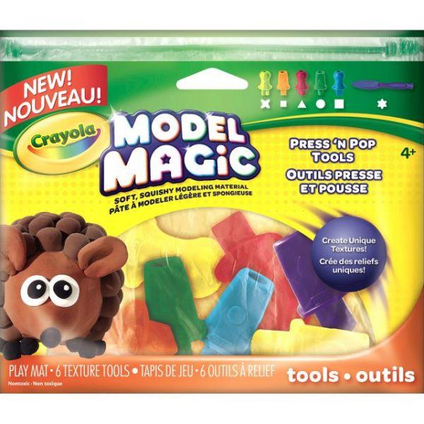 Crayola Model Magic Press 'N Pop Tools 6/Pkg