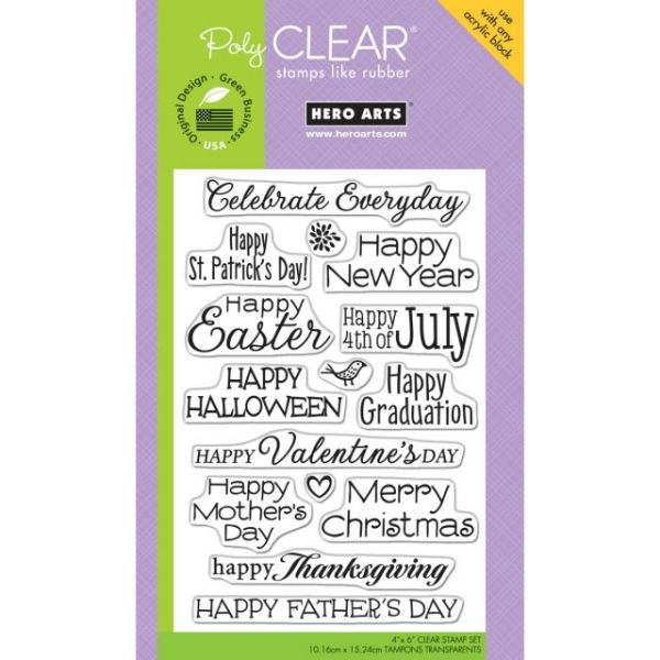 "Hero Arts Clear Stamps 4""X6"" Sheet"