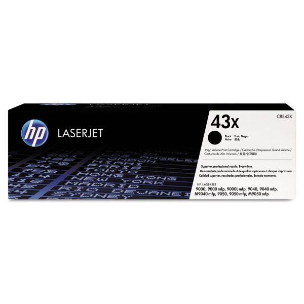 HP 43X, (C8543X) High Yield Black Original LaserJet Toner Cartridge