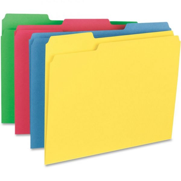 Business Source Heavyweight Colored File Folders