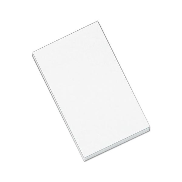 Universal Scratch Pads, Unruled, 3 x 5, White, 100 Sheets, 12/Pack